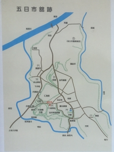 現地説明板の地図