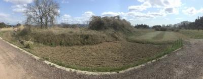 北~西堀と土塁の残滓
