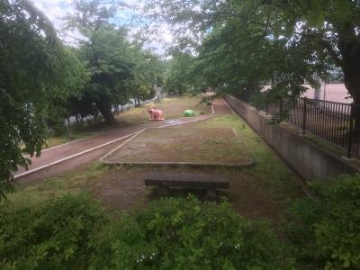 北側堀跡(みつばち公園)