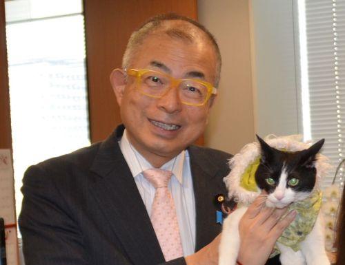 500参議院議員 小野次郎先生と猫ジャンヌ