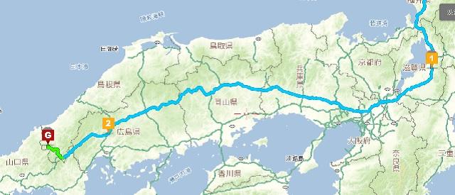 中国道拡大図