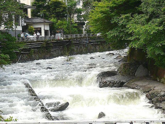 睦月旅行会川の増水
