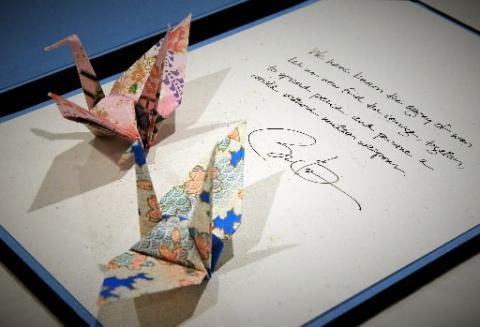 広島 オバマ大統領折り鶴