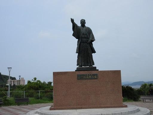高島港岩崎弥太郎像