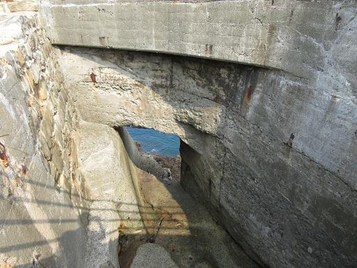 海底水道の取込口