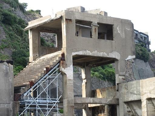 第二竪工入坑桟橋