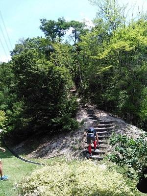 飯森霊園に行く坂