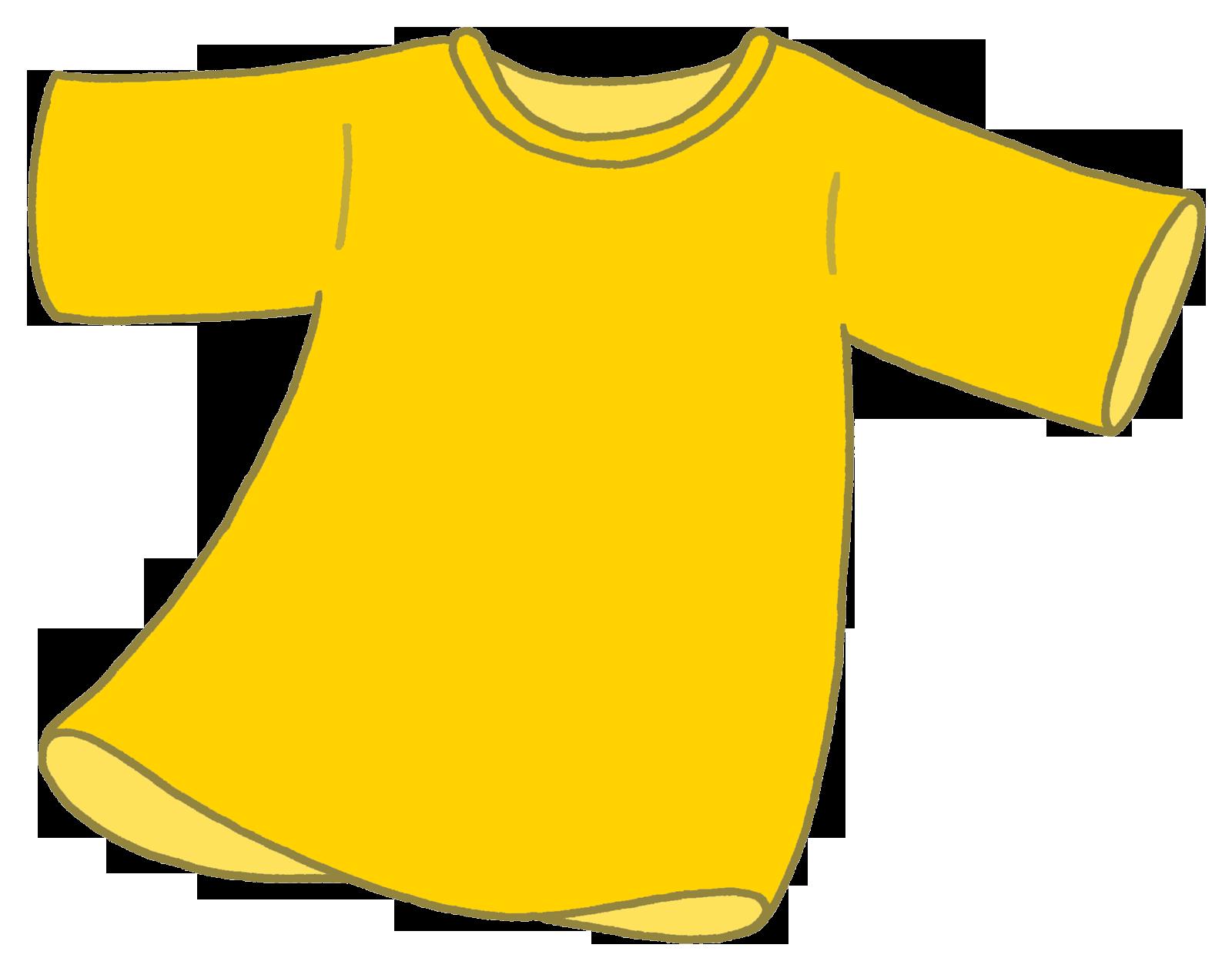 黄色いシャツ