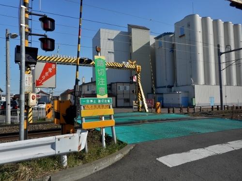 JR札沼線 丸〆街道踏切
