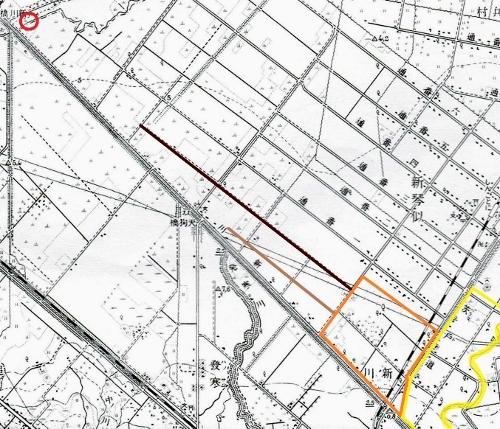 昭和10年地形図 西牧場周辺