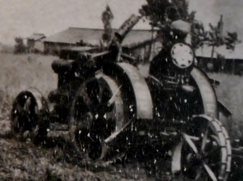 丘珠町Nさん所蔵古写真 谷口農場トラクター 拡大