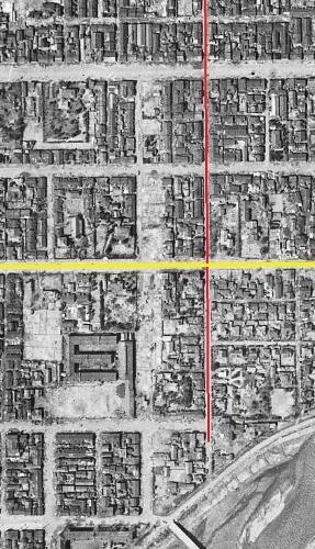 空中写真1948年米軍 東7丁目周辺