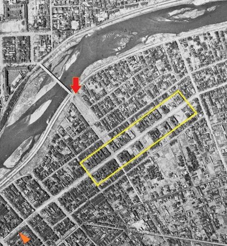 1948年米軍空撮 白石遊郭