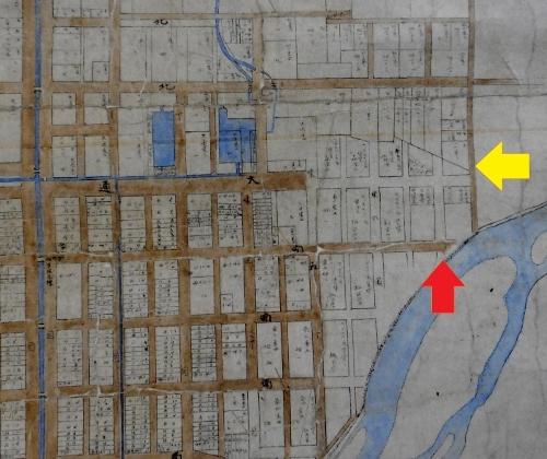 明治23年札幌市街之図 東8丁目通り周辺
