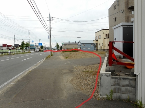 篠路8条4丁目 丸〆街道の痕跡