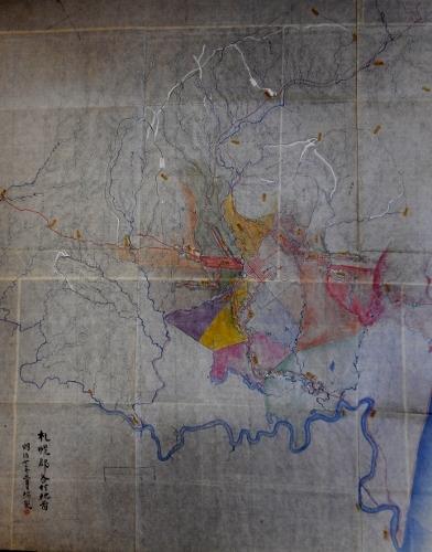 札幌郡各村地図明治7年 丸〆街道