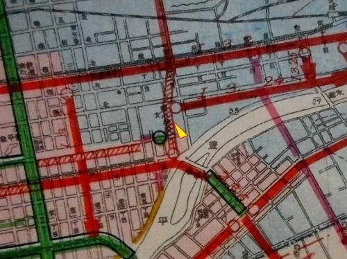 昭和17年 札幌都市計画図 東8丁目通り周辺