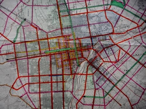 昭和12年都市計画図 札幌中心部