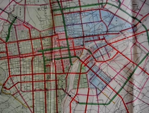 昭和17年都市計画図 札幌中心部