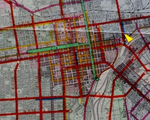 昭和12年都市計画図 札幌中心部 拡大