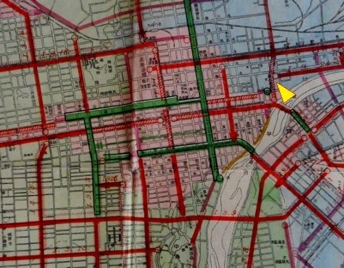 昭和17年都市計画図 札幌中心部 拡大