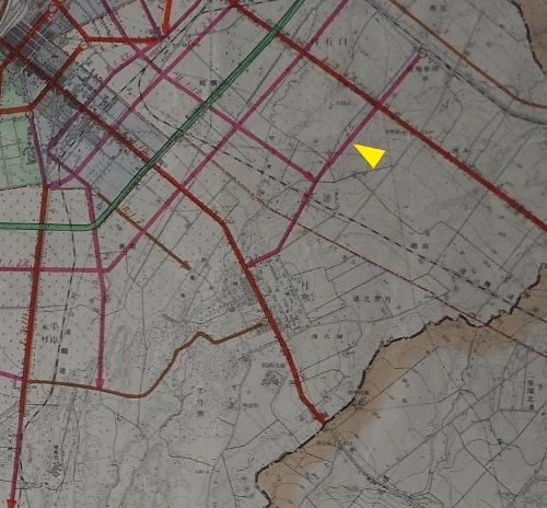 1937年都市計画図 白石停車場線