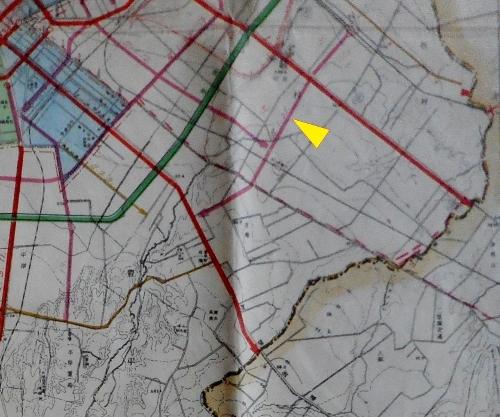 1942年都市計画図 白石中の島通り
