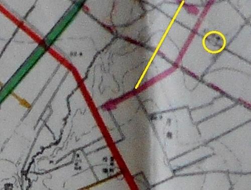 1942年都市計画図 白石中の島通り 拡大