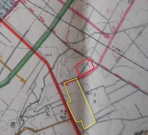 1942年地形図 北部軍司令部