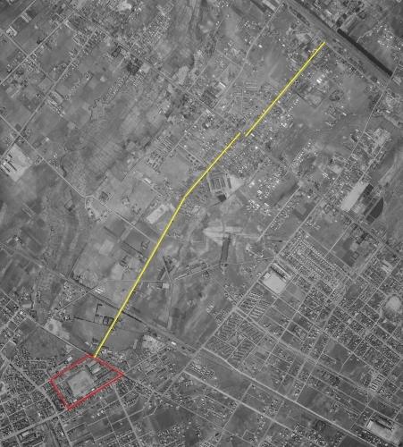 1961年空中写真 連隊通り