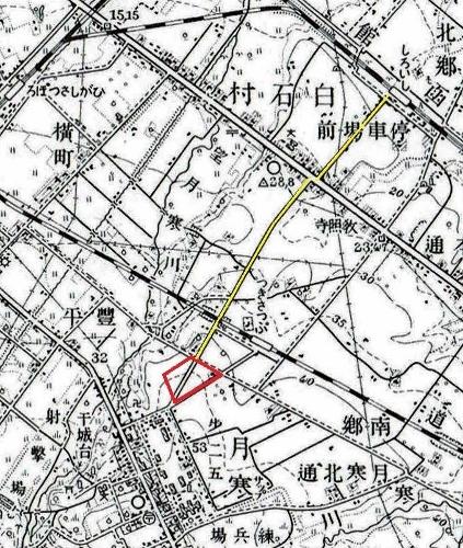 昭和10年地形図 連隊通り