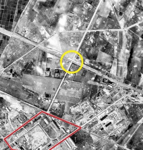 1948年空中写真 米軍 連隊通り