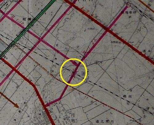 1937年都市計画図 白石駅通り 南郷橋