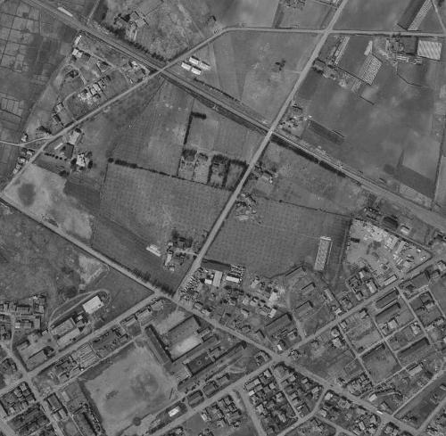 1961年空中写真 連隊通り Tさん宅リンゴ園