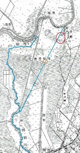 大正5年地形図 厚別川 新川