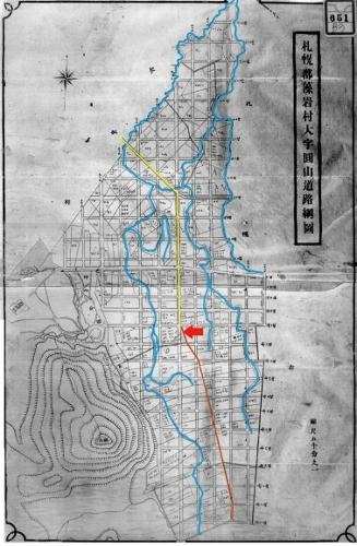 藻岩村大字円山道路網図