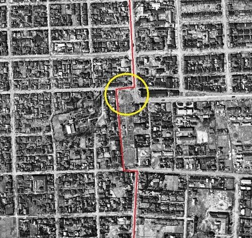 米軍空中写真1948年 南2西20周辺