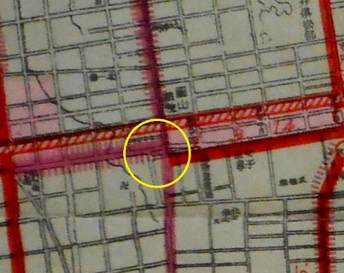 1942年都市計画図 南2西20周辺