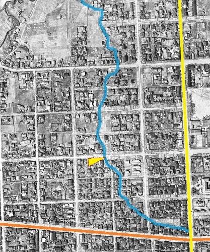 空中写真 米軍1948年 北2条西22丁目付近