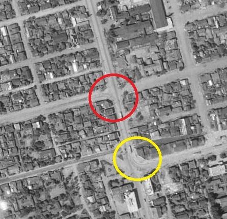 空中写真 1961年 南1西20 交差点