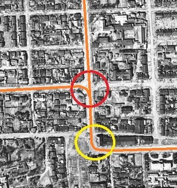 空中写真 1948年米軍 南1西20交差点