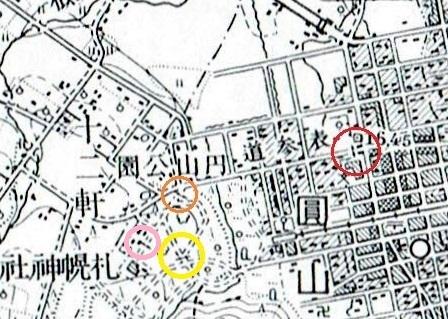 昭和10年地形図 札幌神社 鳥居