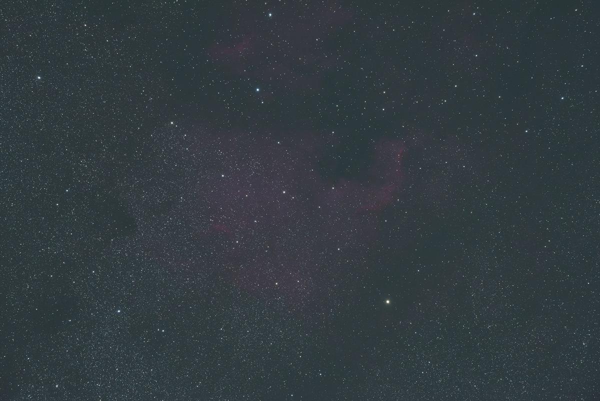 北アメリカ星雲、処理前画像