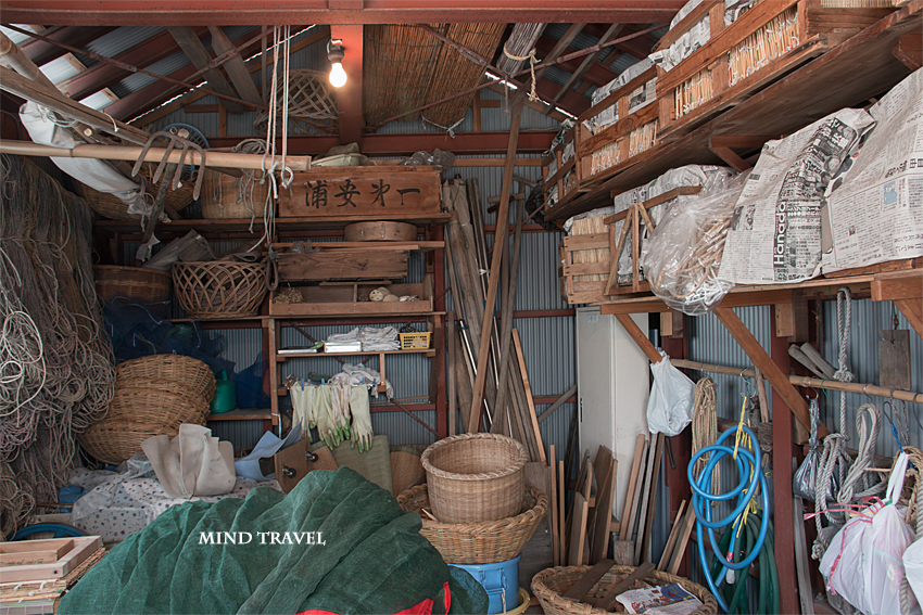 浦安市郷土博物館 漁師の小屋の中