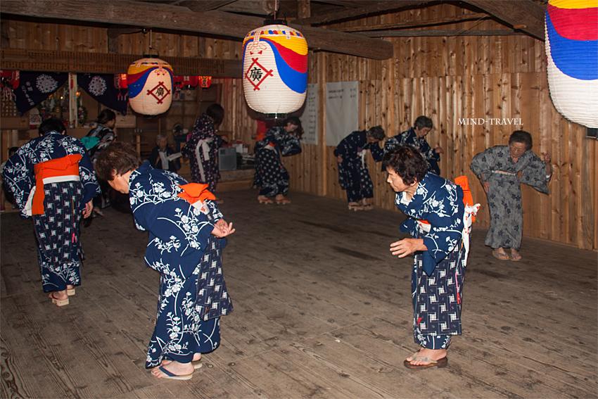 広河原 松上げ-盆踊り