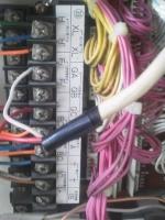 受信機内 F,F' 移信接点 無電圧接点(スイッチ) 小林消防設備
