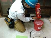 消火器内部点検 消火薬剤確認 小林消防設備