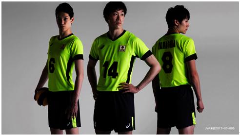 20170516アシックスのバレー日本代表ユニフォーム. アシックスは男子バレーボール
