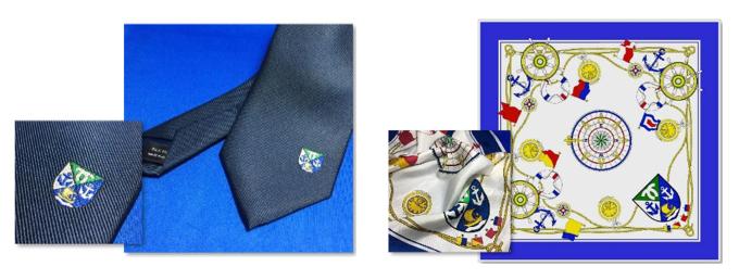 20170518神戸港紋章のネクタイとスカーフ