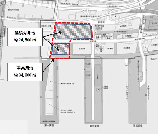 20170524新港突堤基部の再開発位置